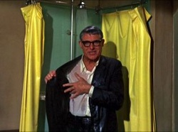 Travel laundry scene with Cary Grant, Audrey Hepburn