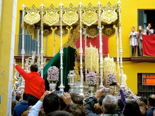 Karen McCann, Semana Santa (Holy Week), procession with Virgin, Seville, Spain
