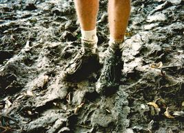 Amazon jungle hike muddy shoes Karen McCann