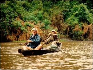 Amazon river camping trip. Karen & Rich McCann