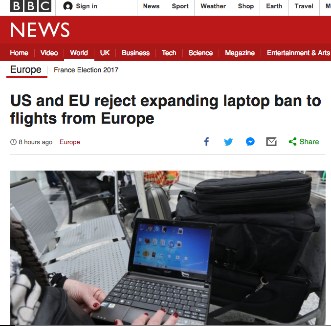 Hallelujah! They Called Off the Laptop & Kindle Ban