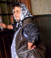 Karen McCann, Romanian farmwoman at train station
