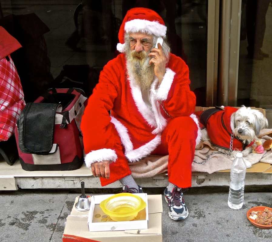 Travel pix: best, Seville, Spain, Depraved Santa, by Karen McCann