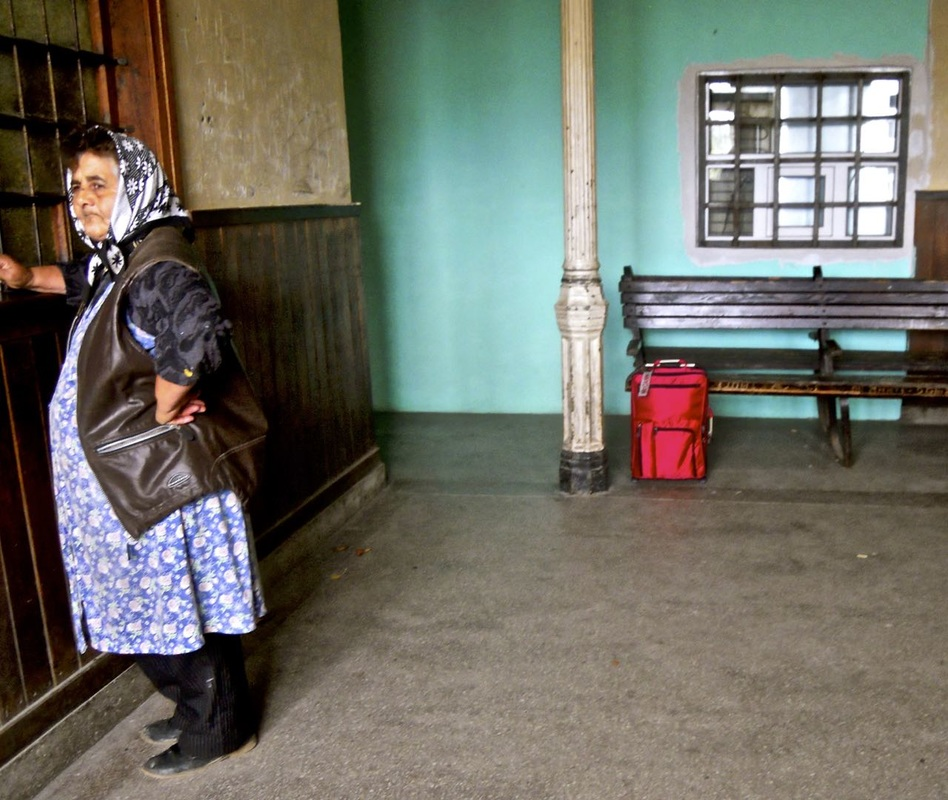 Augustin train station, Transylvania, Romania; by Karen McCann