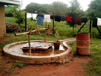 Karen McCann, Kenya, village well