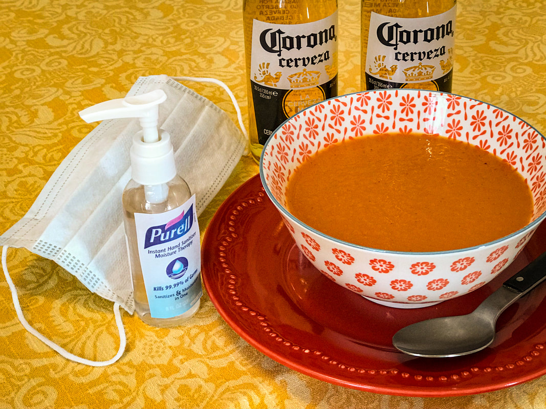 How to survive coronavirus / Cold soup Seville, Spain / Mediterranean Comfort Food  / Karen McCann / EnjoyLivingAbroad.com
