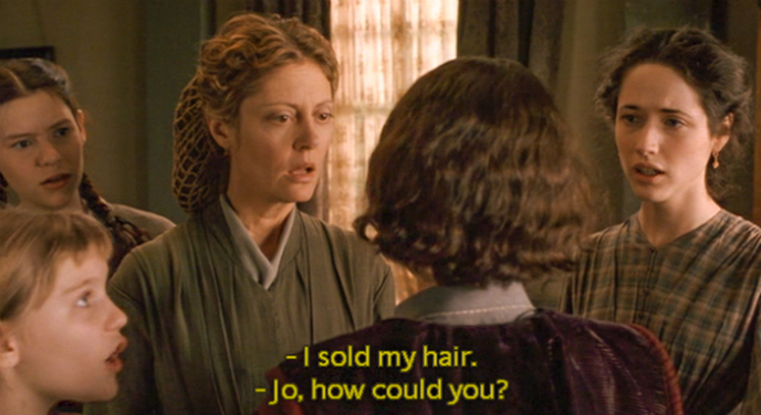 Jo's Haircut / Little Women Movie 1994 /