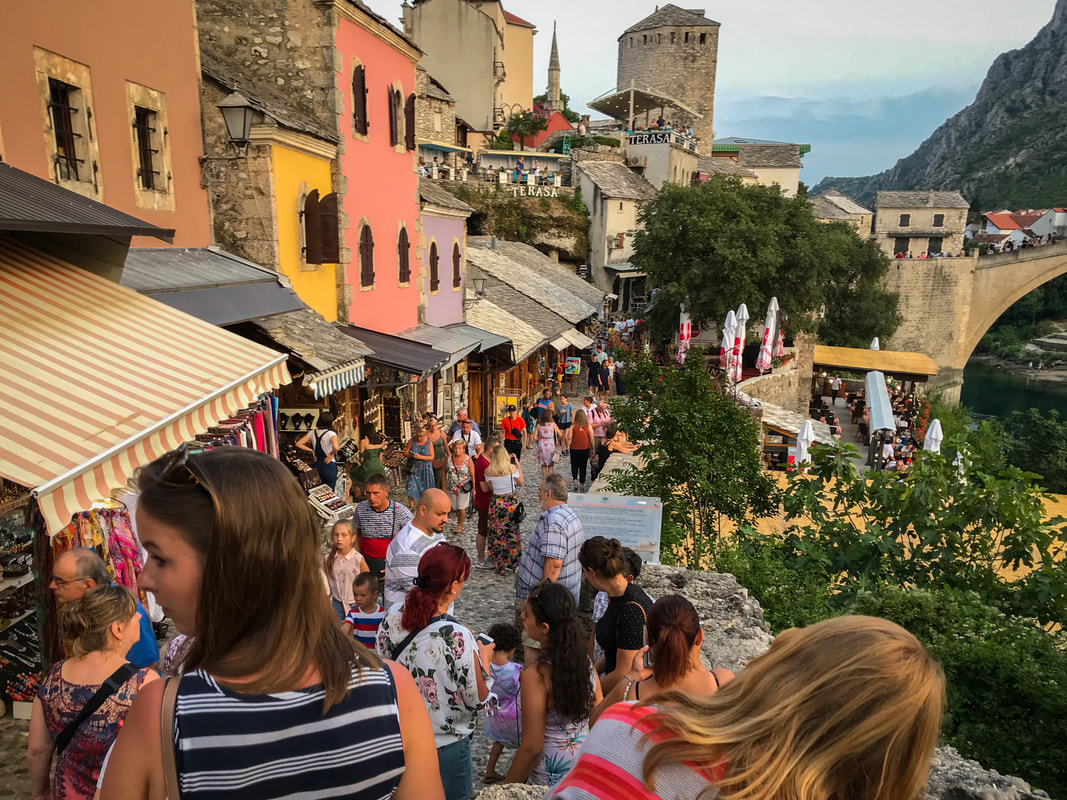 Packing, Food, Comfort: Lessons from 100 Days on the Road / Mostar Old Bridge / Karen McCann / EnjoyLivingAbroad.com