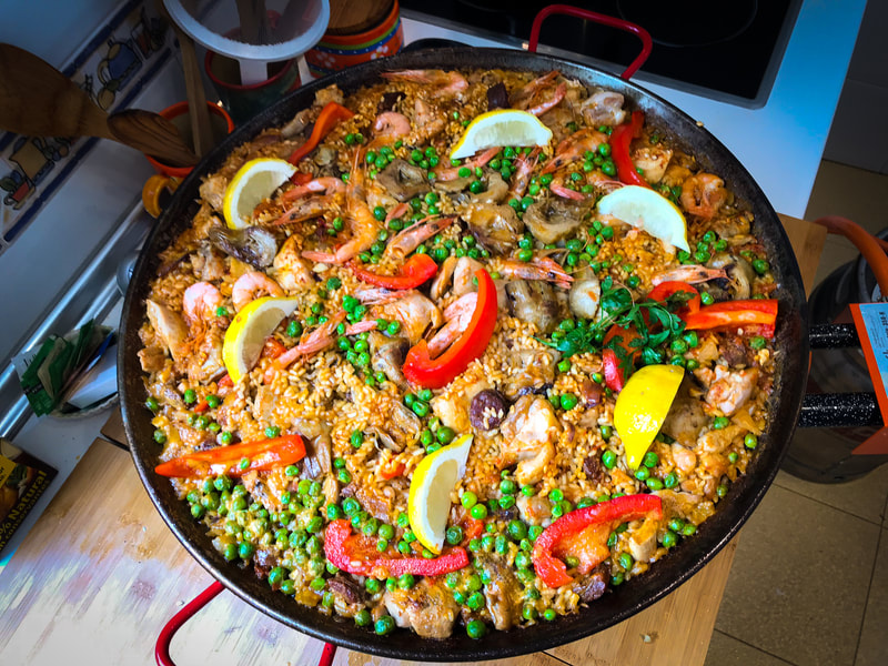 Rich's Perfect Paella recipe and video / Why We All Love Mediterranean  Comfort Food / Karen McCann / EnjoyLivingAbroad.com
