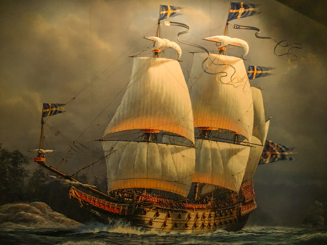 Stockholm disaster / Painting of the ship Vasa / Karen McCann / EnjoyLivingAbroad.com